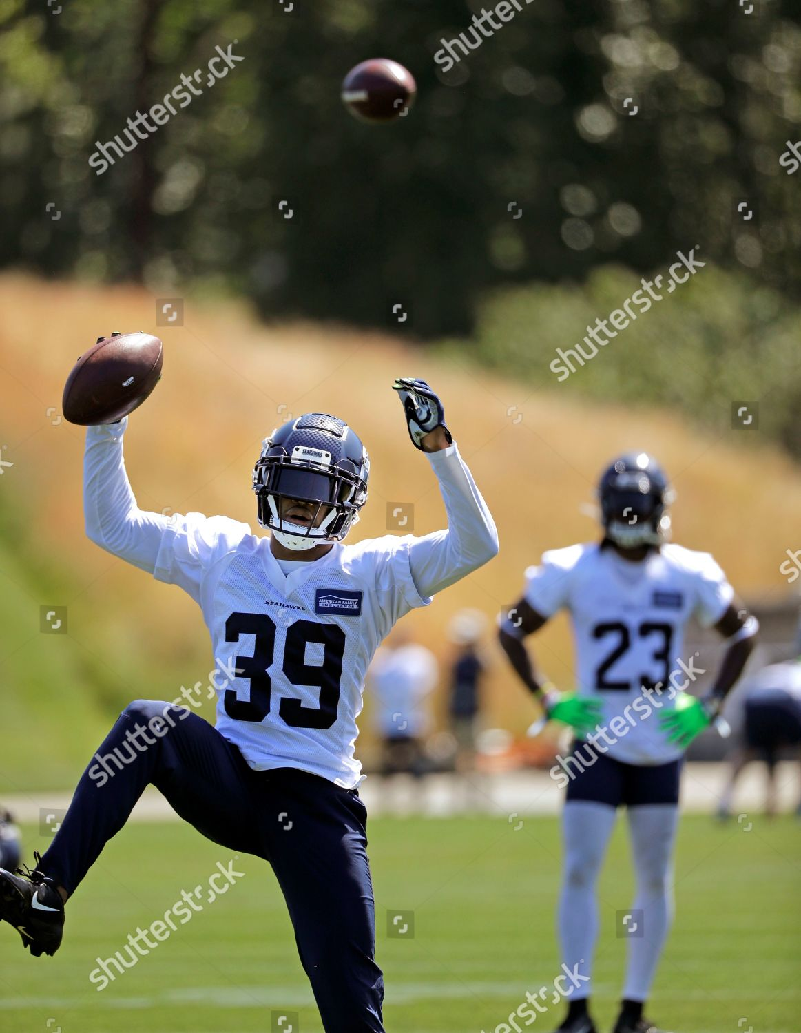 best website 432fb 20bc5 Seattle Seahawks Kalan Reed 39 comes down Editorial Stock ...