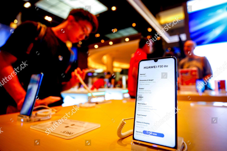 Huawei phones on display shop Bangkok Thailand Editorial Stock Photo