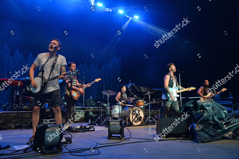 Stock photo of American Authors in concert, The Mizner Park Amphitheatre, Boca Raton, Florida, USA - 18 Jun 2019