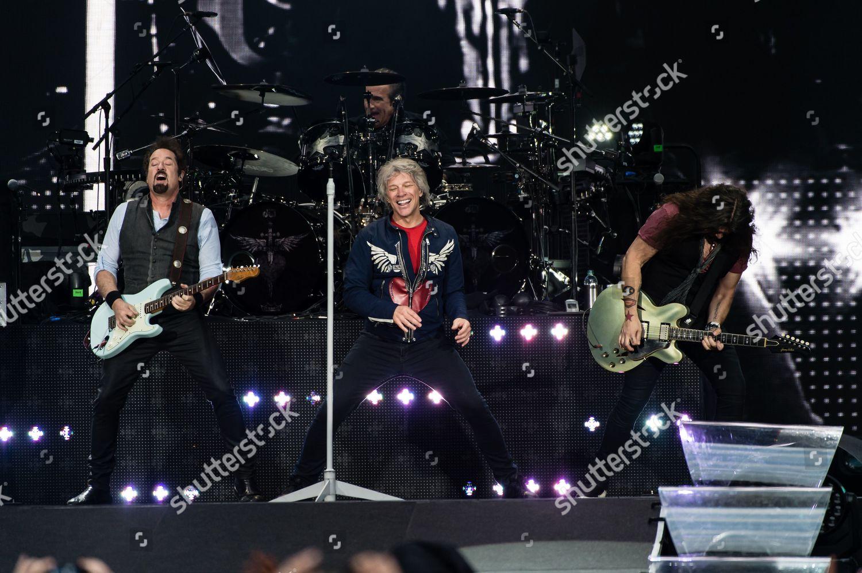 Stock photo of Bon Jovi in concert at Wembley Stadium in London, UK - 21 Jun 2019