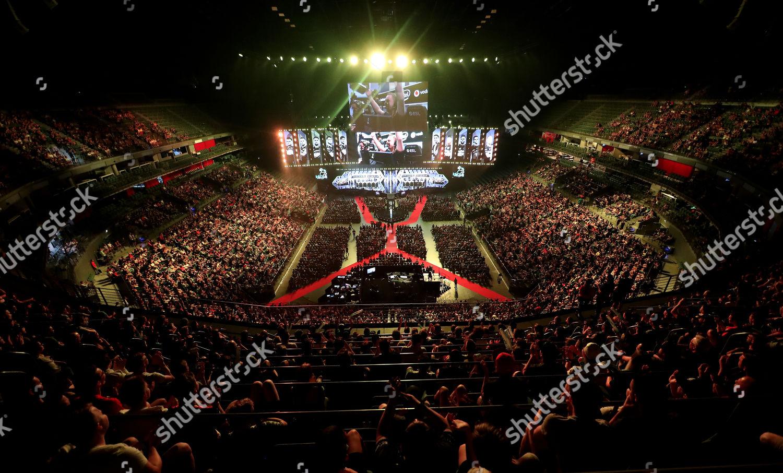 Spectators follow ESL One event LANXESS Arena Editorial