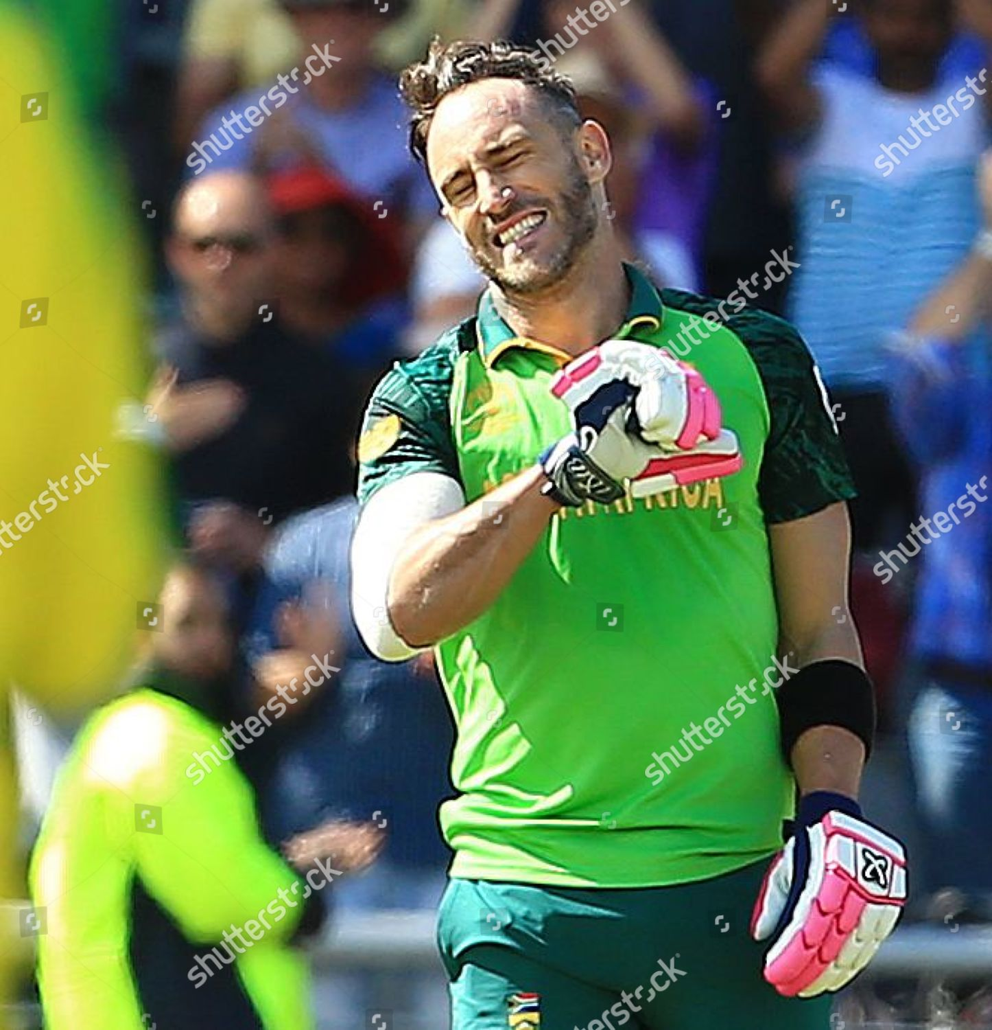 Faf du Plessis South Africa celebrates after Editorial Stock Photo