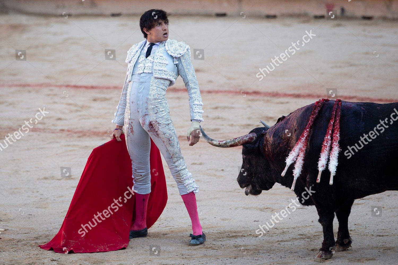 Peruvian bullfighter Andres Roca Rey during bullfight Editorial