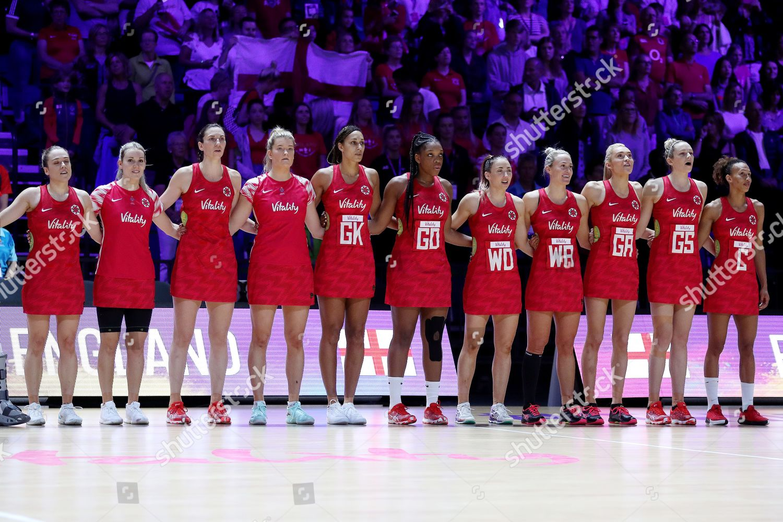 England team line national anthem Editorial Stock Photo