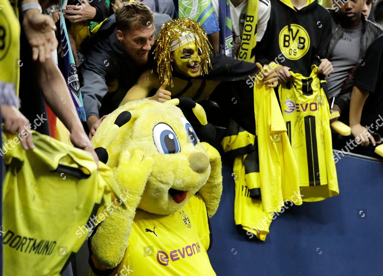 Borussia Dortmund Mascot Poses Photos Supporters Following Editorial Stock Photo Stock Image Shutterstock