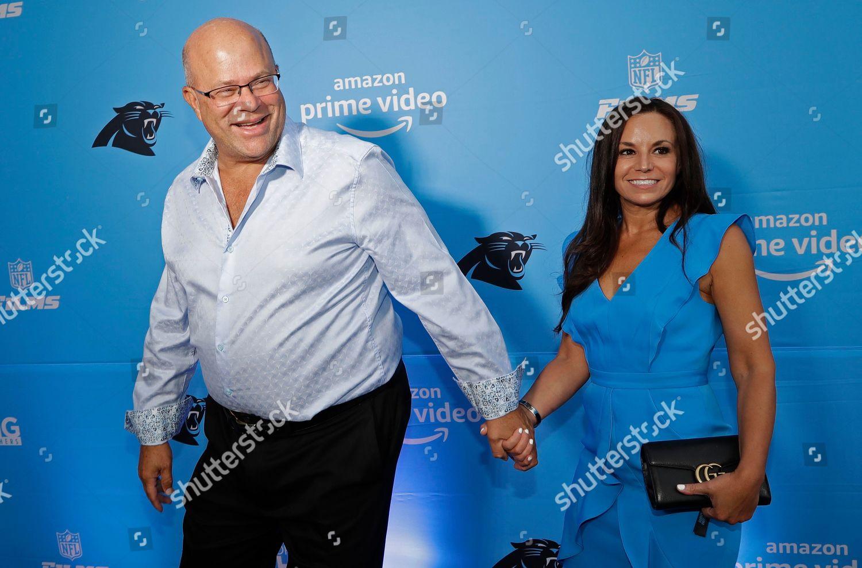 purchase cheap af089 7d000 Carolina Panthers owner David Tepper left arrives Editorial ...