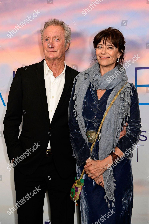 Bryan Brown L wife Englishborn Australian actress Editorial Stock ...
