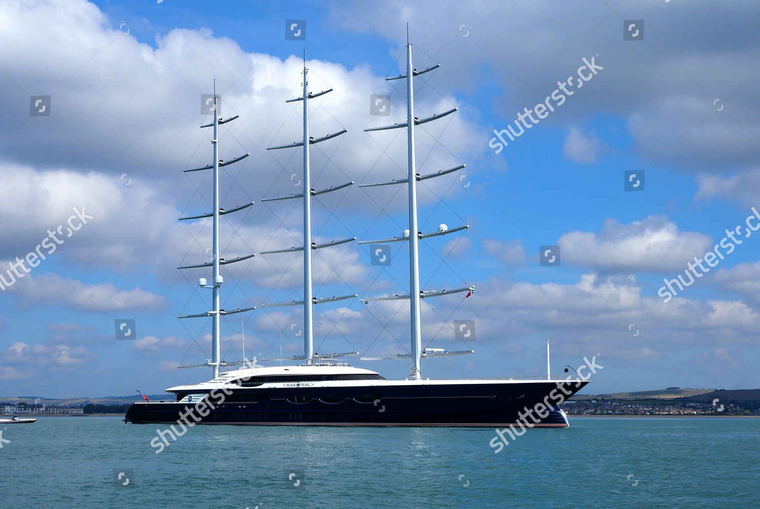 Black Pearl super yacht owned by Russian Editorial Stock
