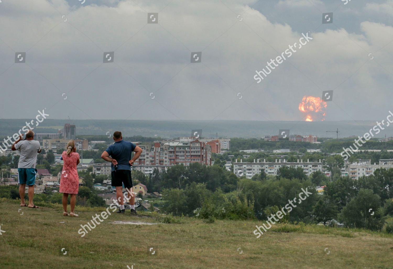On people watch photograph explosions military ammunition ...