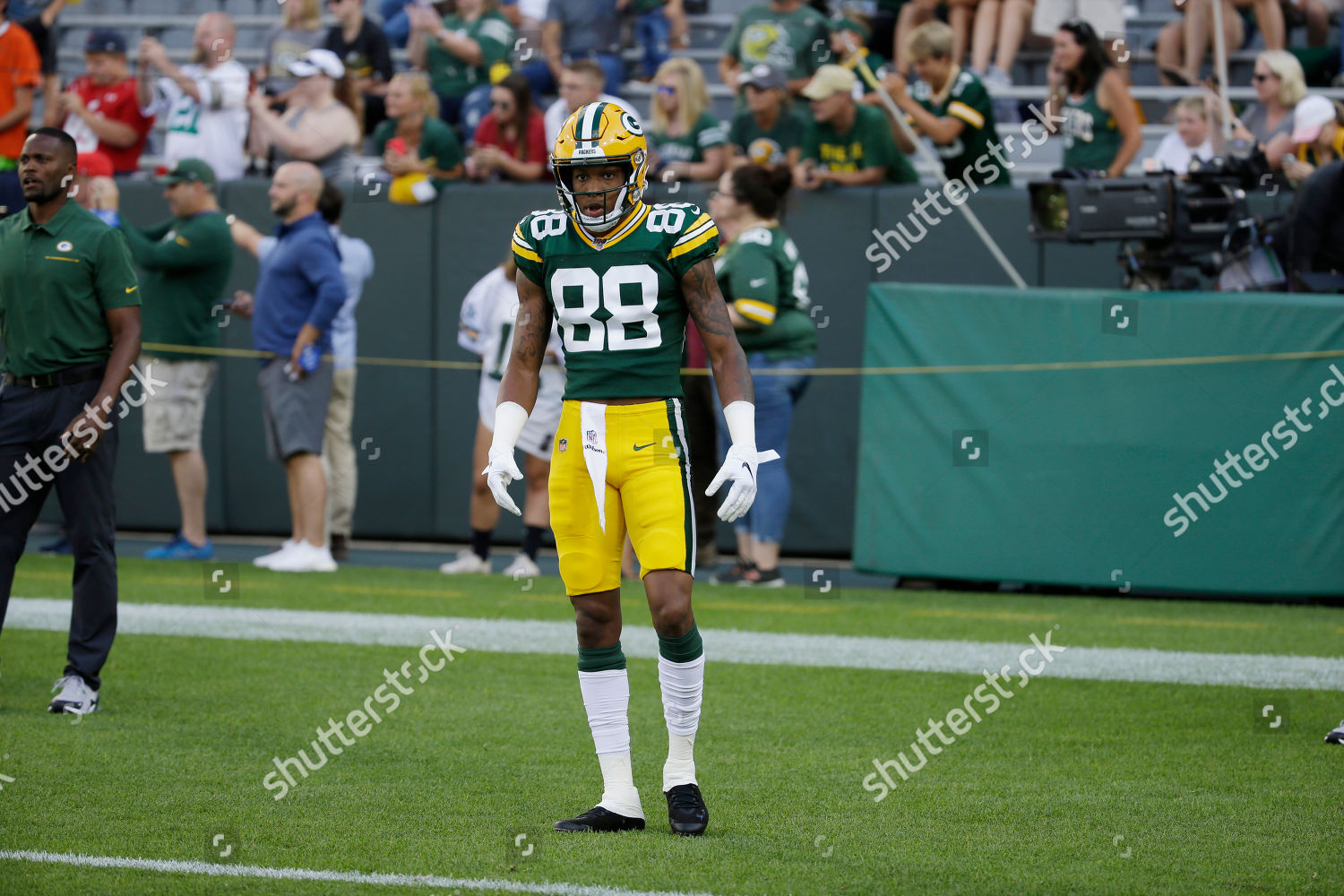 sale retailer fe3cf ef60f Green Bay Packers wide receiver Teo Redding Editorial Stock ...