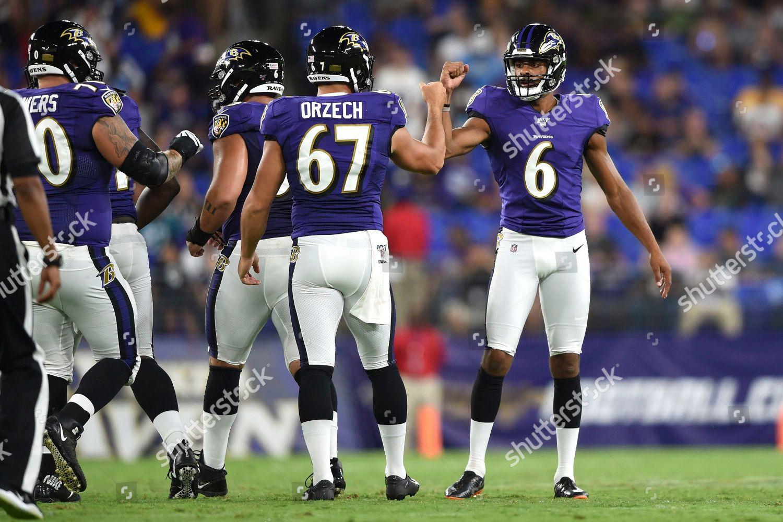 big sale 0156b e76e1 Baltimore Ravens Kaare Vedvik 6 celebrates field Editorial ...