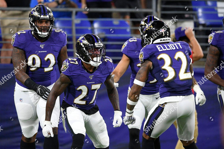 quality design b0417 37ab3 Baltimore Ravens cornerback Cyrus Jones 27 celebrates ...