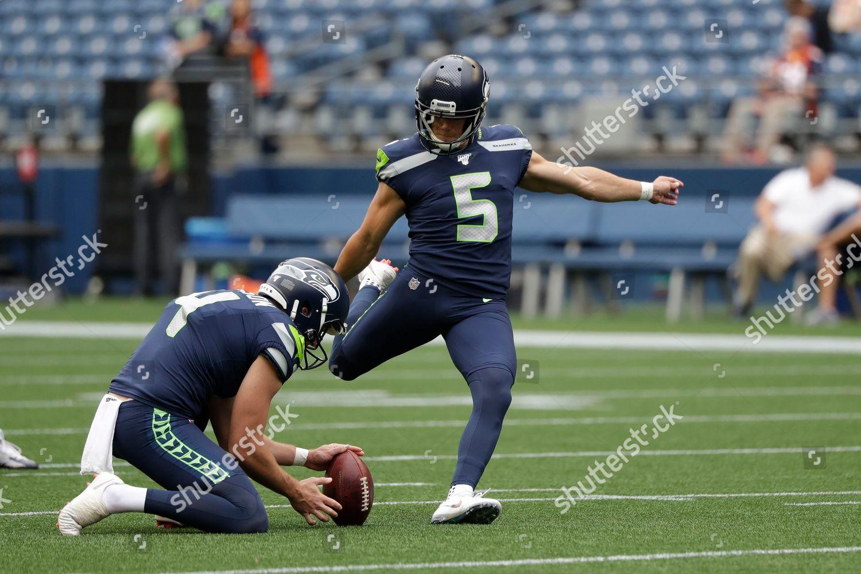 Seattle Seahawks Kicker Jason Myers 5 Kicks Editorial Stock