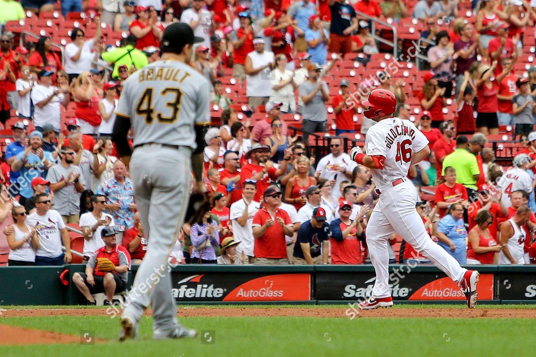 St Louis Cardinals Paul Goldschmidt runs bases Editorial