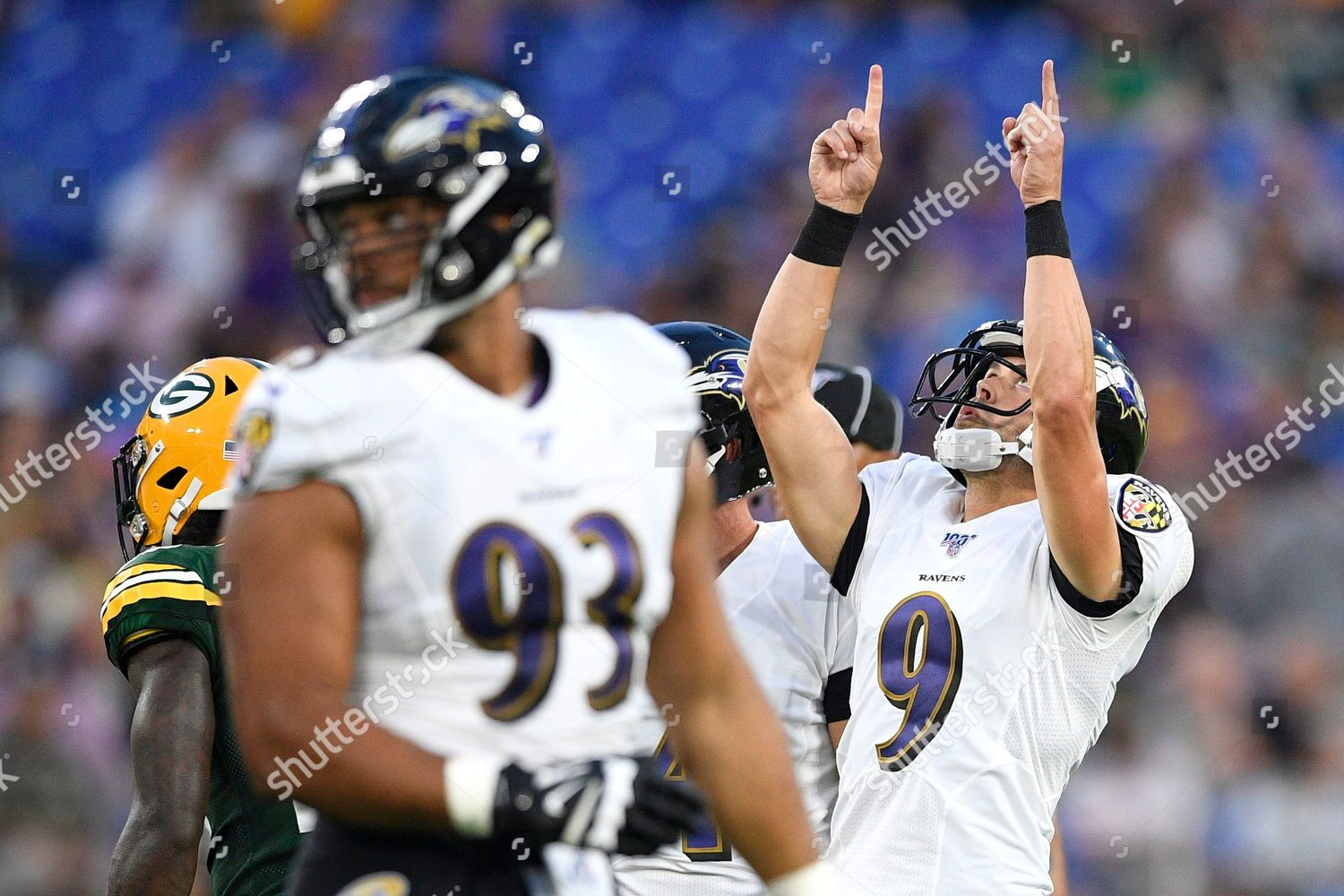 premium selection 17af2 220f9 Baltimore Ravens kicker Justin Tucker 9 gestures Editorial ...