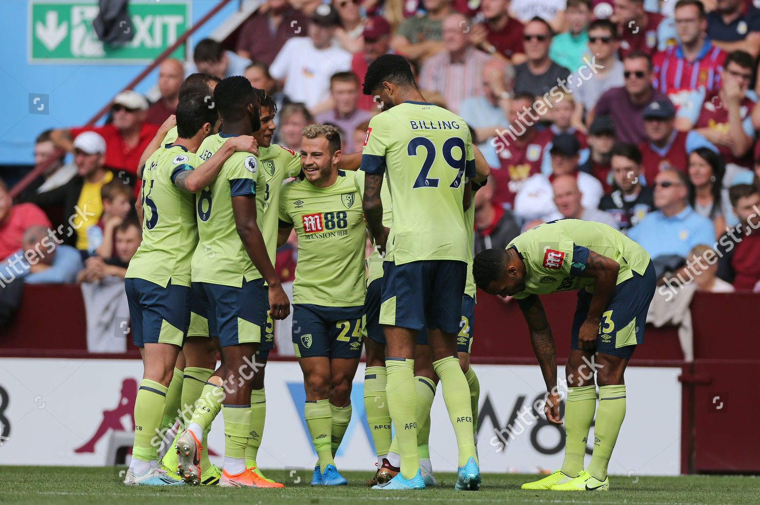 Bournemouth celebrate scoring their second goal during