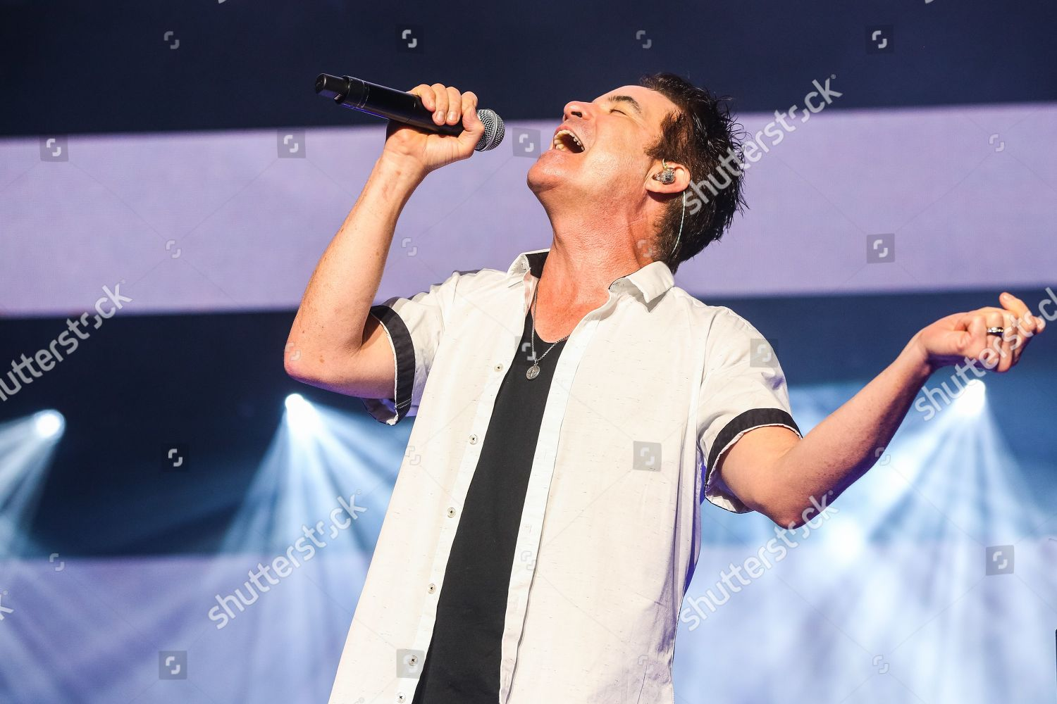 Train Pat Monahan Editorial Stock Photo - Stock Image
