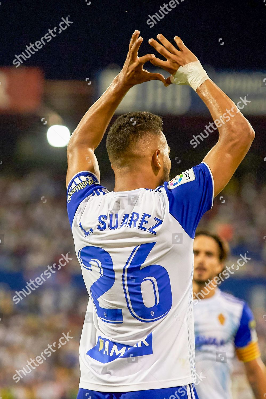 Luis Suarez Real Zaragoza celebrates after scoring Editorial Stock Photo -  Stock Image