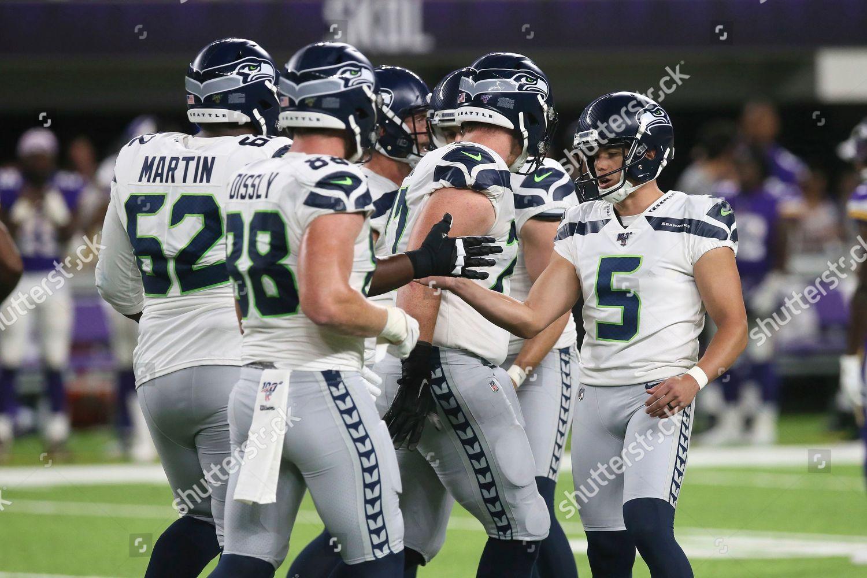 Seattle Seahawks Kicker Jason Myers 5 Celebrates Editorial