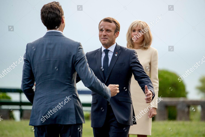 Emmanuel Macron Brigitte Macron Justin Trudeau French Editorial Stock Photo Stock Image Shutterstock