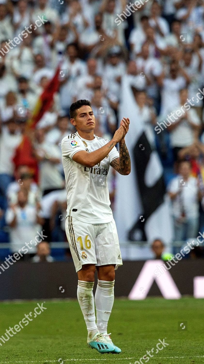 Real Madrids Midfielder James Rodriguez Reacts During Editorial