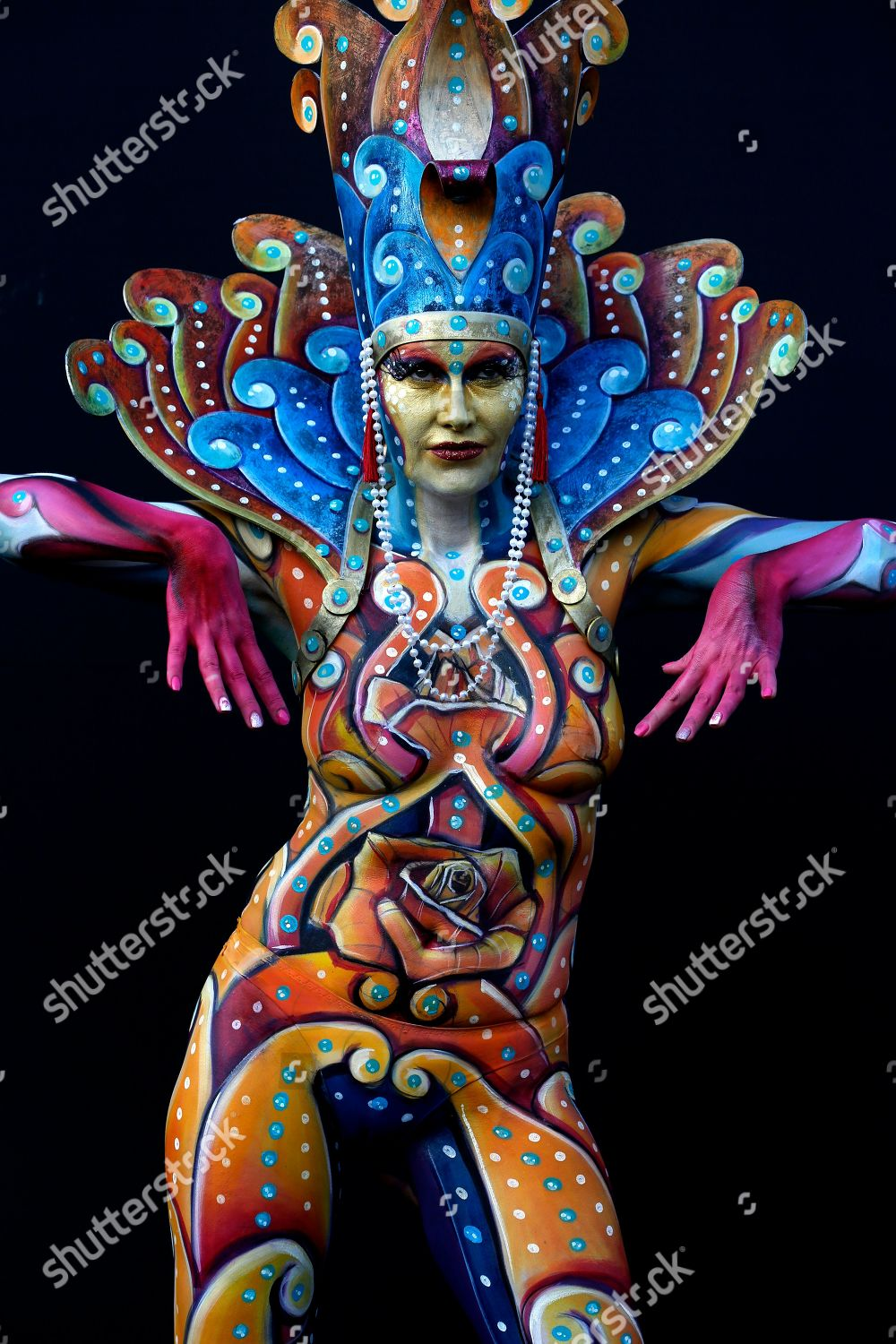 Model Poses During Daegu International Body Painting Editorial Stock Photo Stock Image Shutterstock