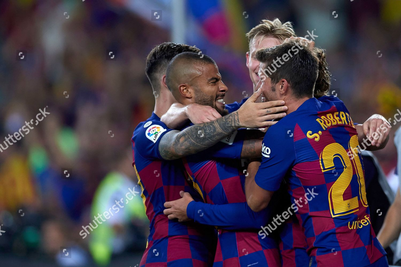 Antoine Griezmann Barcelona celebrates after scoring his