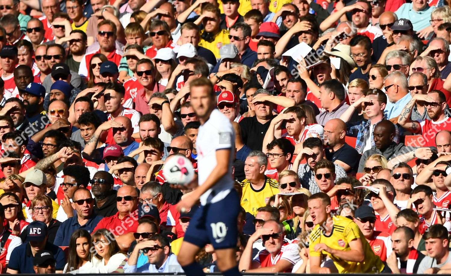 Arsenal Fans Look On Behind Harry Kane Editorial Stock Photo Stock Image Shutterstock