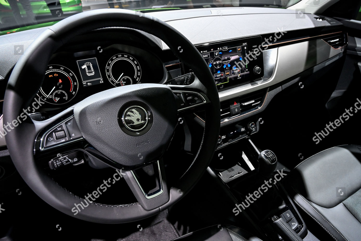 Interior View New Skoda Kamiq Gtec First Foto Editorial Imagem De Banco Shutterstock