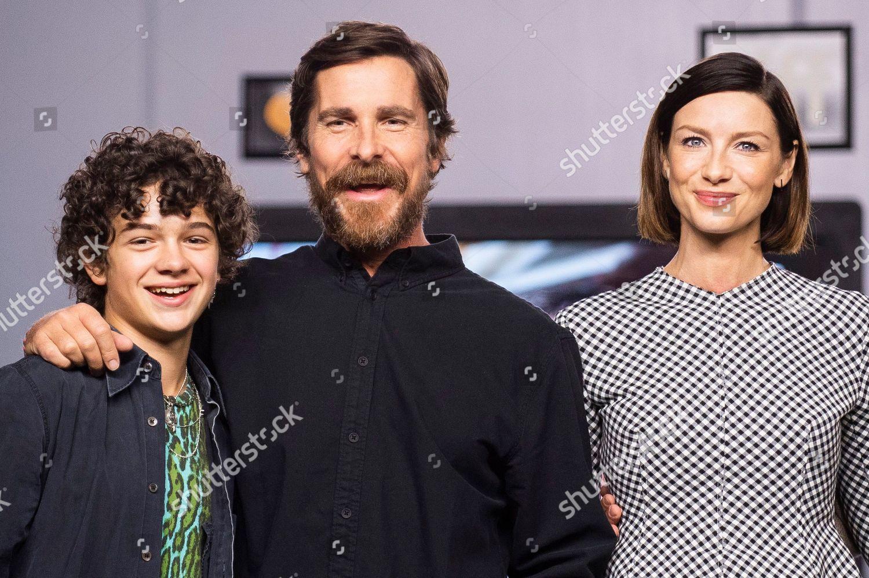 Noah Jupe Christian Bale Caitriona Balfe Left Redaktionelles Stockfoto Stockbild Shutterstock