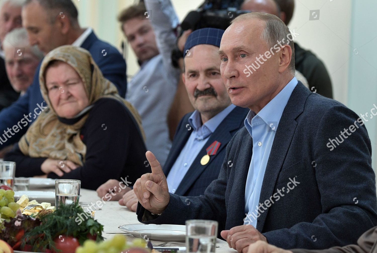 Russian President Vladimir Putin R Attends Meeting Editorial Stock Photo Stock Image Shutterstock