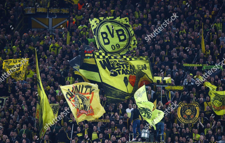 Borussia Dortmund Fans Wave Flags On Kop Editorial Stock Photo Stock Image Shutterstock