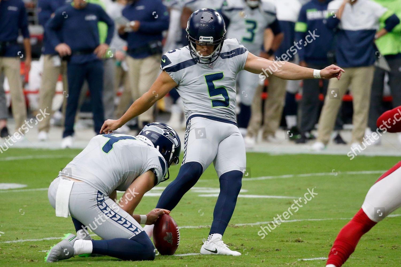 Seattle Seahawks Kicker Jason Myers 5 Kiss Editorial Stock
