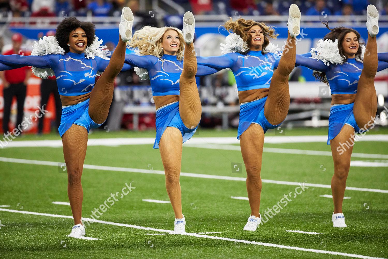 Detroit Lions Cheerleaders Perform Prior Nfl Football