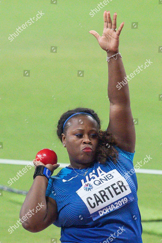 Michelle Carter Athlete >> Michelle Carter Usa Shot Put Women Final Editorial Stock