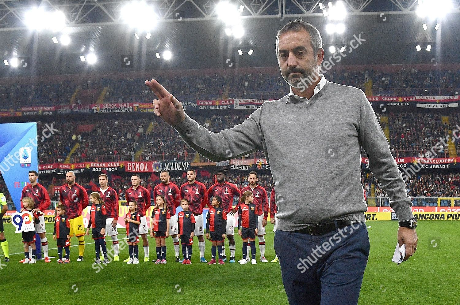 Milans Coach Marco Giampaolo Before Italian Serie Editorial Stock Photo Stock Image Shutterstock