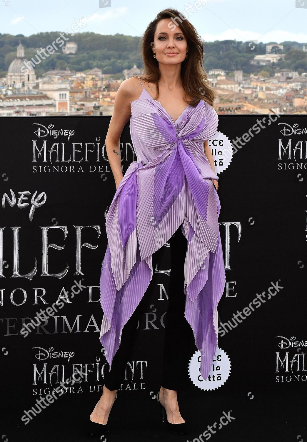 Angelina Jolie Poses Media During Photocall Maleficent