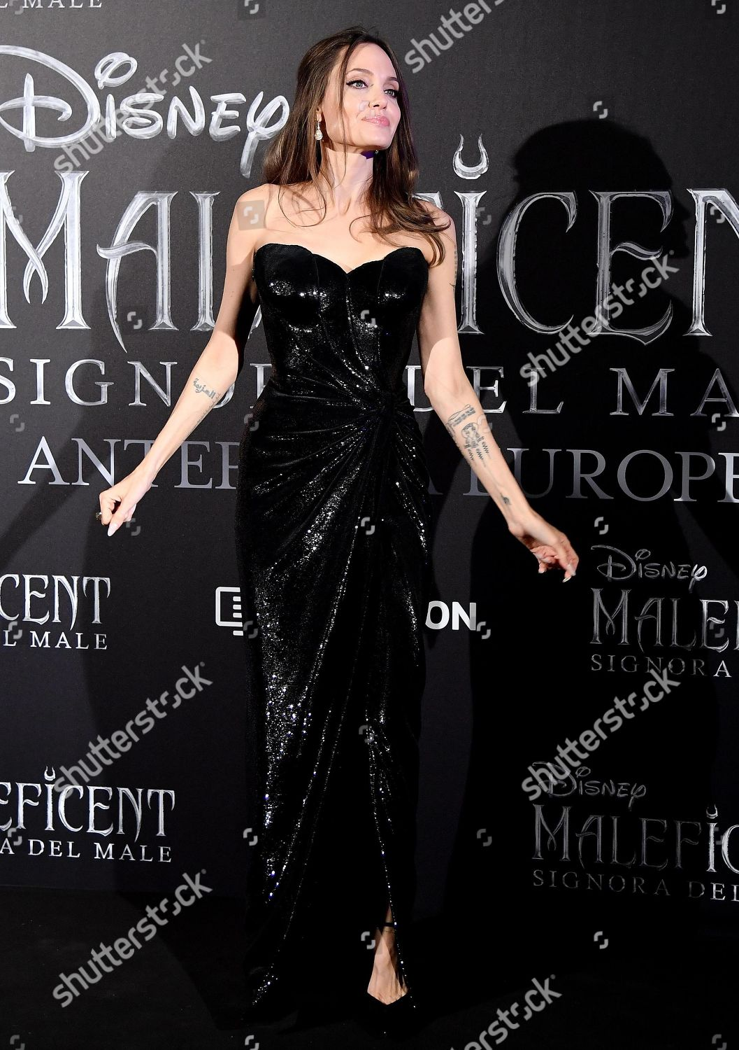 Angelina Jolie Poses During European Premiere Maleficent