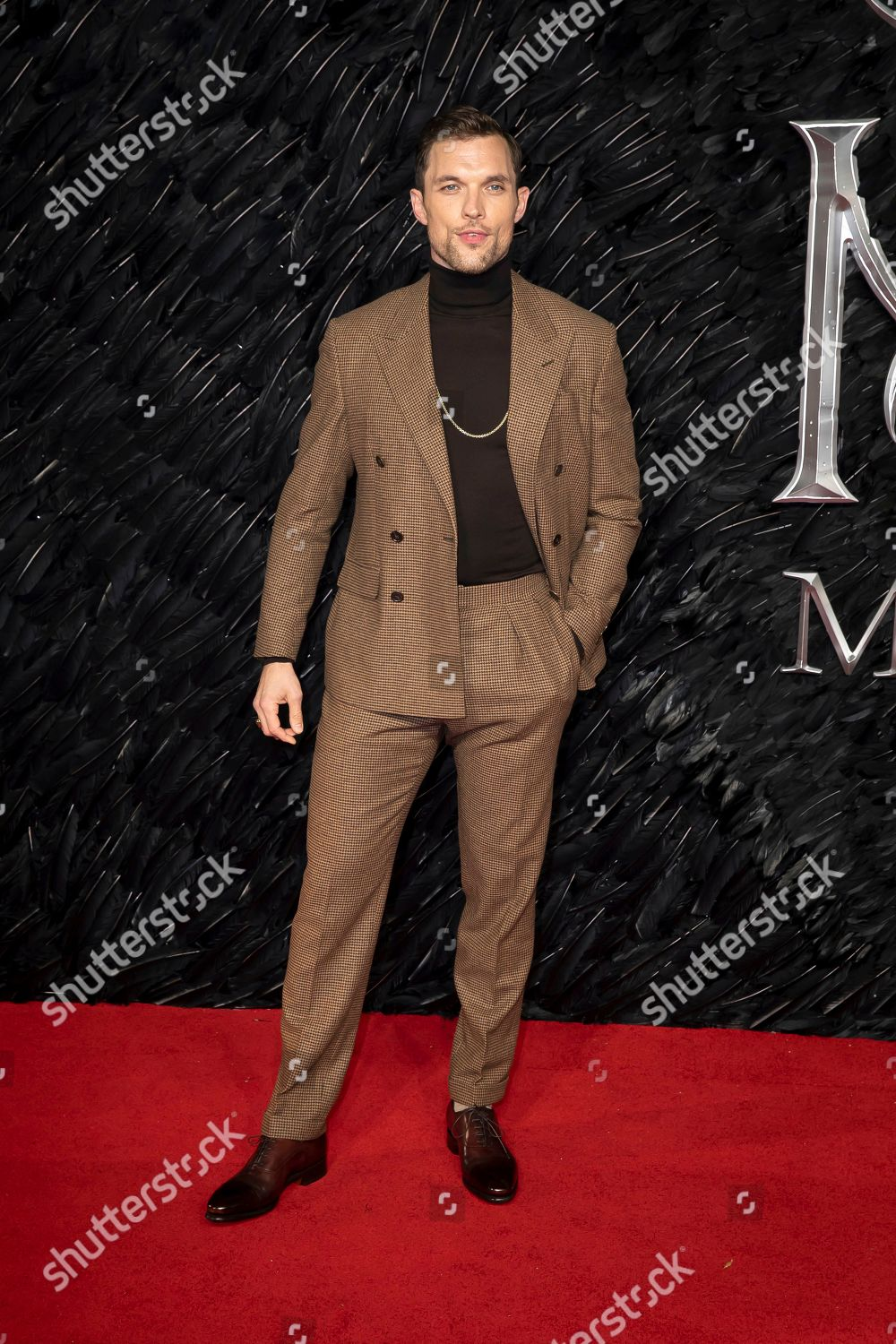 Ed Skrein Poses Photographers On Arrival Premiere Editorial