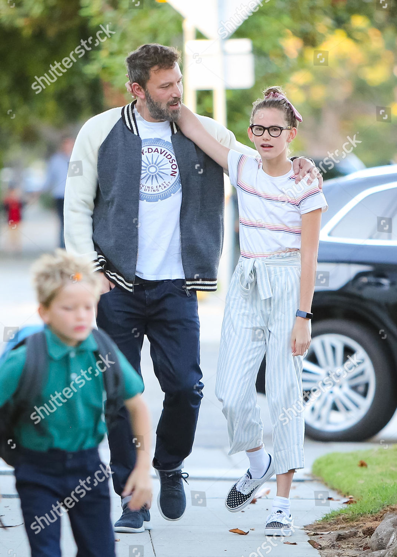 Ben Affleck his children Samuel Affleck Violet Editorial ...