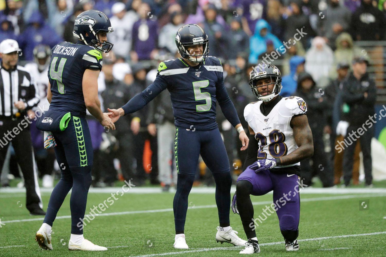 Seattle Seahawks Kicker Jason Myers 5 Shakes Editorial Stock