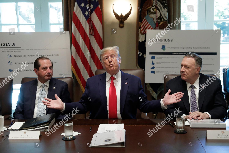 United States President Donald Trump Center Speaks Editorial Stock