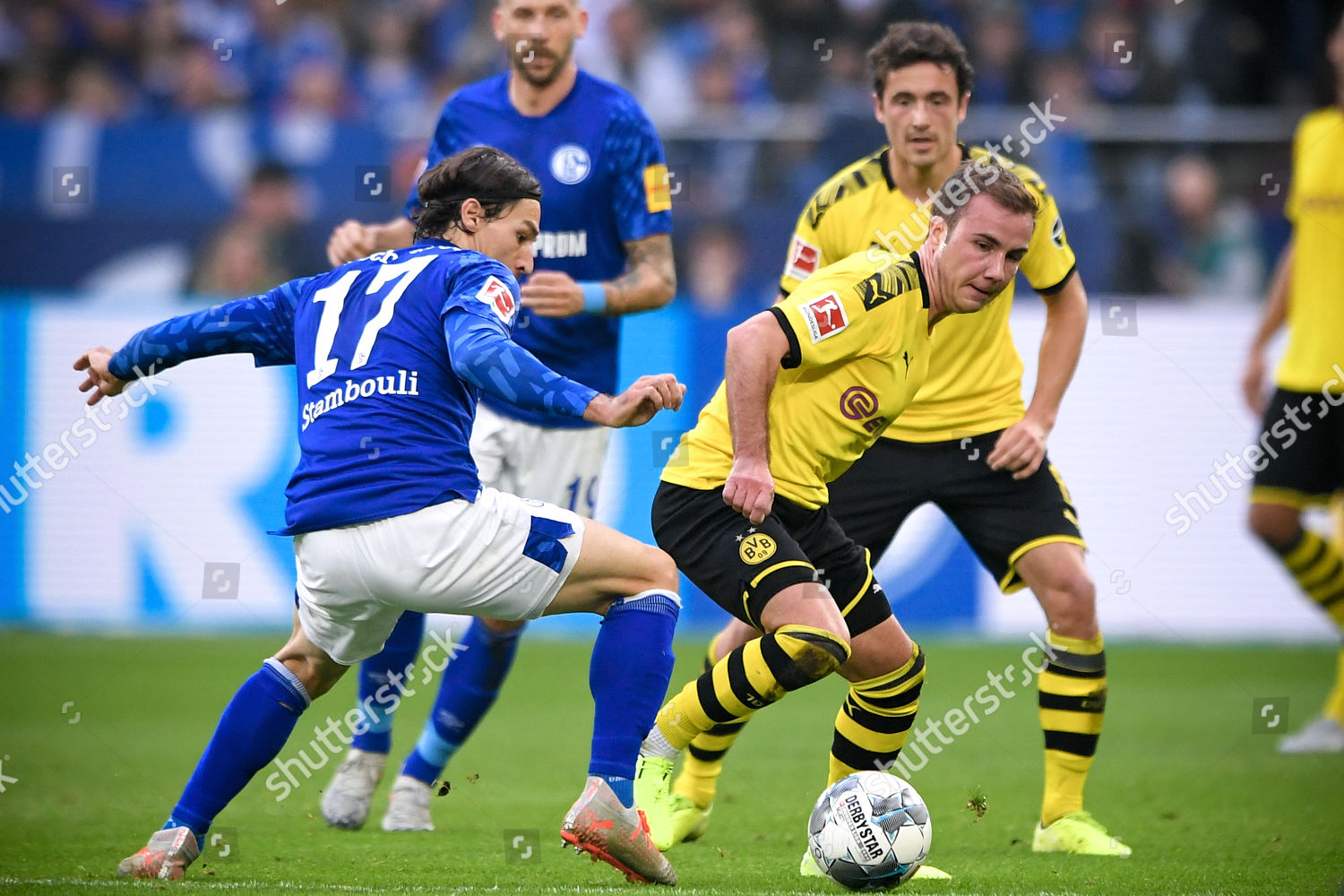 Dortmunds Mario Goetze R Action Against Schalkes Editorial Stock Photo Stock Image Shutterstock