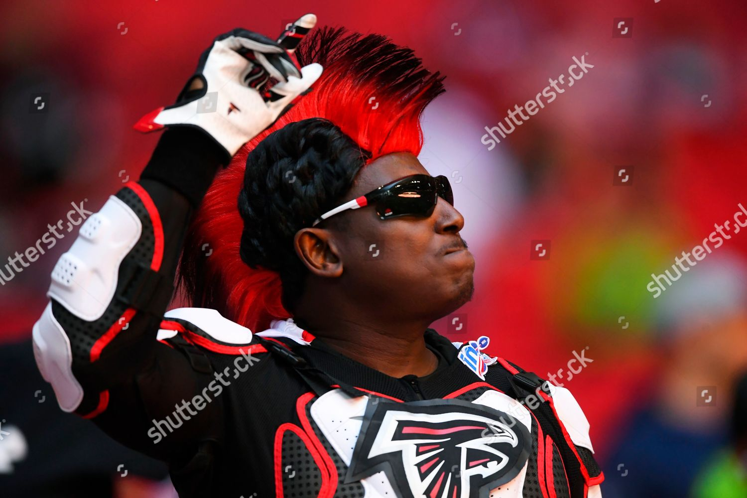 Atlanta Falcons fan cheers during first half Editorial Stock Photo ...