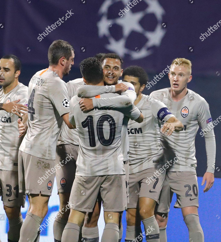 Players Shakhtar Donetsk Celebrate Goal During Uefa Editorial Stock Photo Stock Image Shutterstock