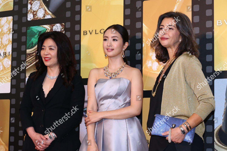 Stock photo of Bvlgari Peter Marino concept store opening ceremony, Taipei, Taiwan, China - 07 Nov 2019