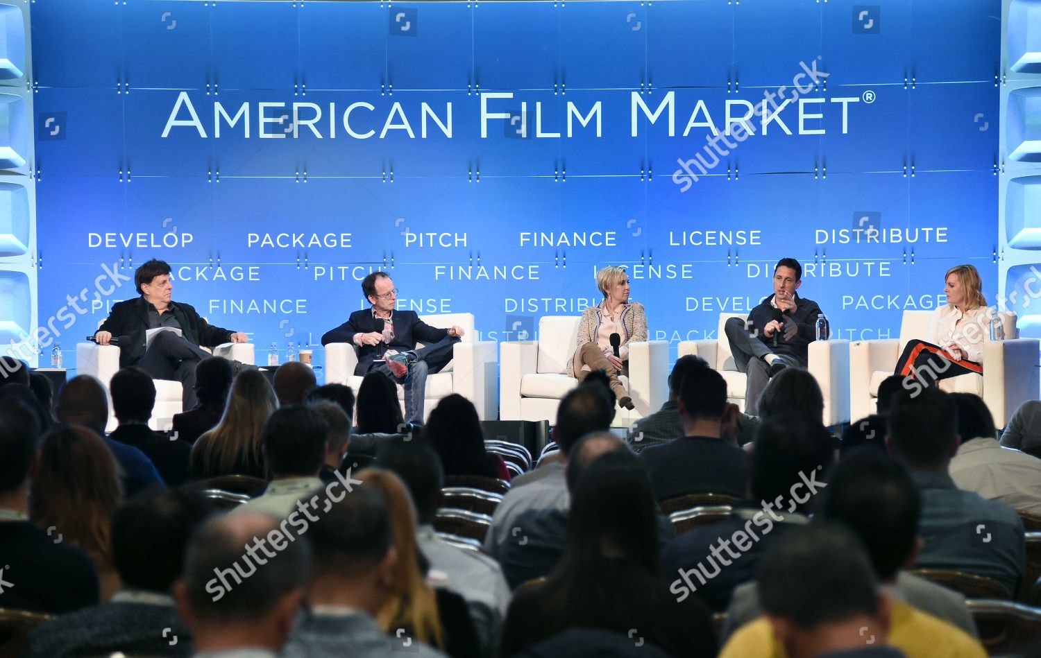 Stock photo of AFM Production Conference - Producing for the International Pre-Sales Marketplace, American Film Market 2019, Fairmont Hotel, Santa Monica, Los Angeles, USA - 11 Nov 2019