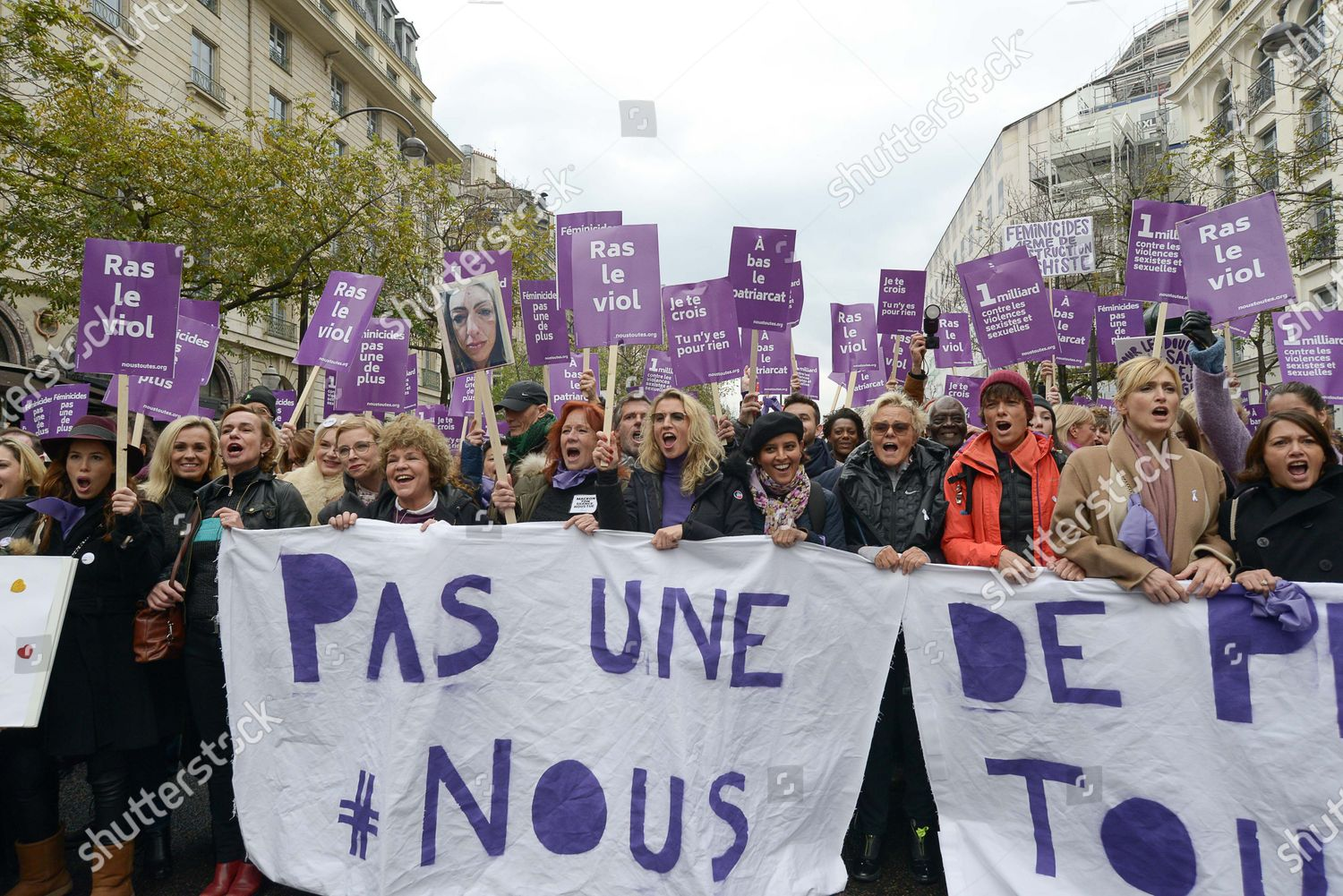 Stock photo of Domestic violence protest, Paris, France - 23 Nov 2019