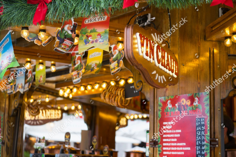 Christmas Market Fair Tuileries Gardens Editorial Stock Photo