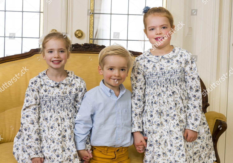 Stock photo of Prince Carlos de Bourbon de Parma and Princess Anne Marie de Bourbon's Family Christmas card photograph - 03 Nov 2019